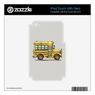 Cute School Bus iPod Touch 4G Decals