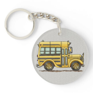 Cute School Bus Keychain
