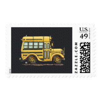 Cute School Bus Postage Stamp