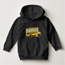 Cute School Bus Toddler Hoodie Pullover