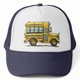 Cute School Bus Trucker Hat