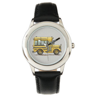 Cute School Bus Wristwatch