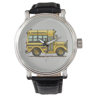 Cute School Bus Wristwatch