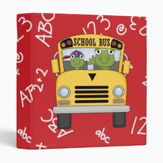 Cute School Frog Notebook 3 Ring Binder