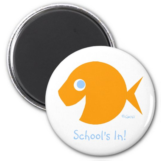 Cute School Is  In Beginning of Year Fridge Magnet
