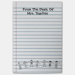 Cute School Kids Teacher Post-its Post-it Notes