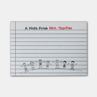 Cute School Kids Teacher Post-its Post-it® Notes