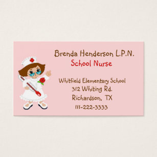 Business cards for school nurses image collections card design and nurse on call business cards templates zazzle cute school nurse business card reheart image collections colourmoves Choice Image