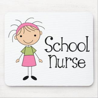 Cute School Nurse Mousepads