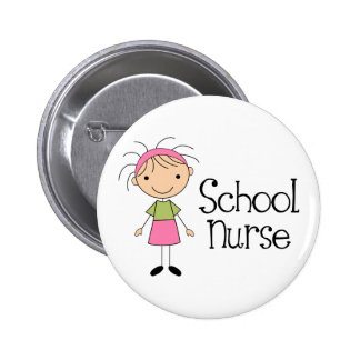 Cute School Nurse Pinback Button
