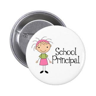 Cute School Principal Pinback Button