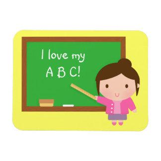 Z Alphabet Love Cute School Teacher Kids Love ABC Chalkboard Rectangular Photo Magnet