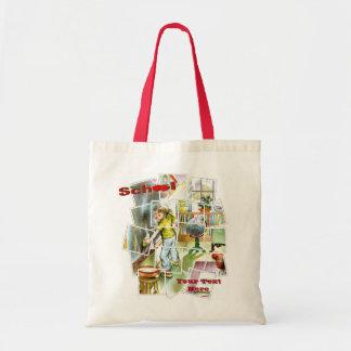 Cute Schoolteachers Helper Design Tote Bags