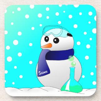 Cute Science Snowman Drink Coaster