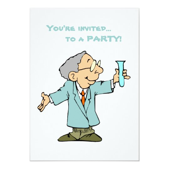 Cute Scientist in Lab Coat Card