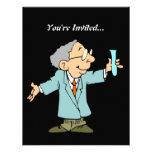 Cute Scientist in Lab Coat Custom Invitations