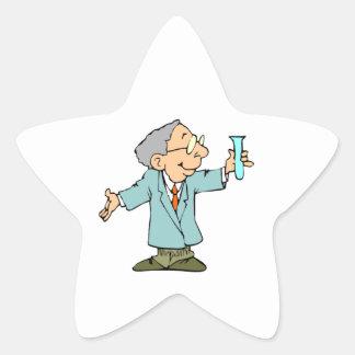 Cute Scientist in Lab Coat Star Sticker
