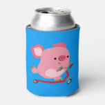 Cute Scooter-Riding Cartoon Pig Can Cooler