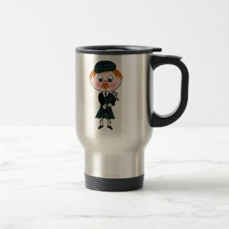 Cute Scottish Bagpiper Travel Mug