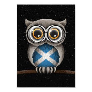 Cute Scottish Flag Owl Wearing Glasses Card