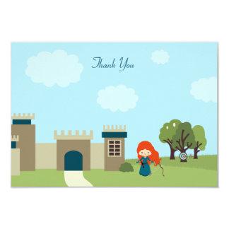 Cute scottish princess girls birthday thank you card