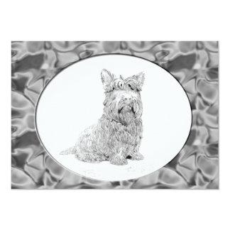 Cute Scottish Terrier dog art Card