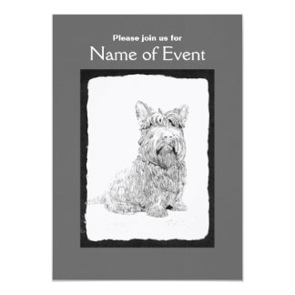 Cute Scottish Terrier dog art Card