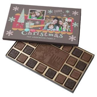 Cute Scrapbooking Christmas Photos Template 45 Piece Box Of Chocolates