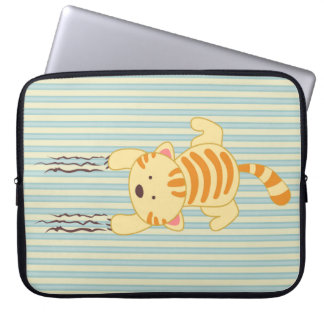 Cute scratching kitty cat fun laptop sleeve cover