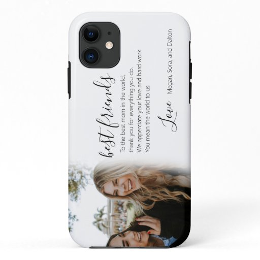 Cute script best friend bestie photo iPhone 11 case