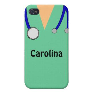 Cute Scrubs Nurses Personalized iphone 4 Case