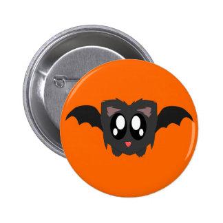 Cute Scruffy Bat Button