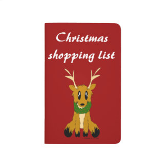 Cute Scruffy Christmas Reindeer Journal