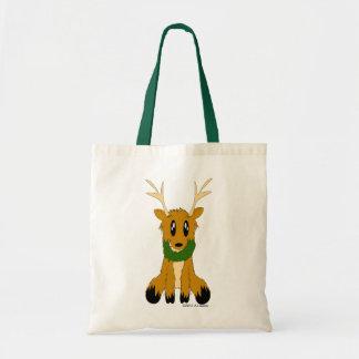 Cute Scruffy Christmas Reindeer Tote Bag