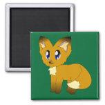 Cute Scruffy Little Fox Magnet