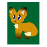 Cute Scruffy Little Fox Postcard