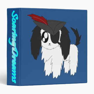 Cute Scruffy Pirate Puppy Avery Signature Binder