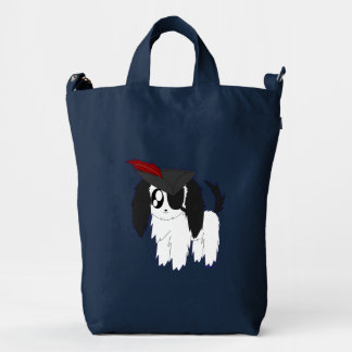 Cute Scruffy Pirate Puppy Baggu Duck Bag Duck Canvas Bag