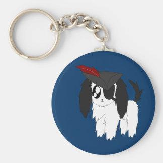 Cute Scruffy Pirate Puppy Keychain