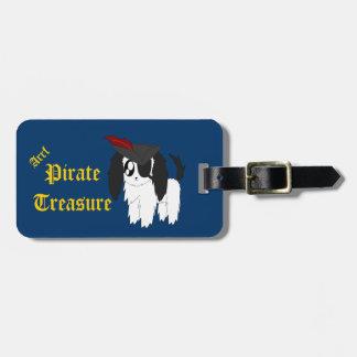 Cute Scruffy Pirate Puppy Luggage Tag