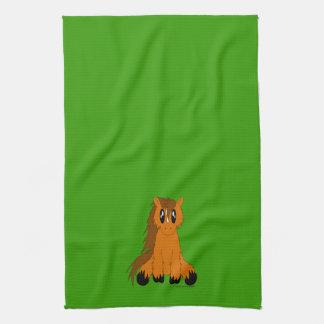 Cute Scruffy Pony Kitchen Towel