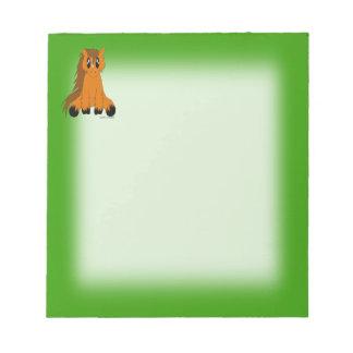 Cute Scruffy Pony Notepad
