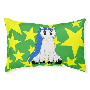 Image of: Corgi Cute Scruffy Unicorn With Stars Dog Bed blue Zazzle Kawaii Animals Dog Beds Zazzle