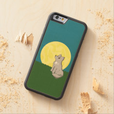 Cute Scruffy Wolf With Moon Carved Maple Iphone 6 Bumper Case at Zazzle