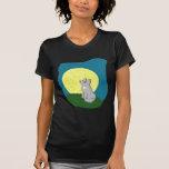 Cute Scruffy Wolf with Moon T-shirt