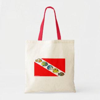 Cute Scubadorable Dive Flag Canvas Bags