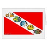 Cute Scubadorable Dive Flag Card
