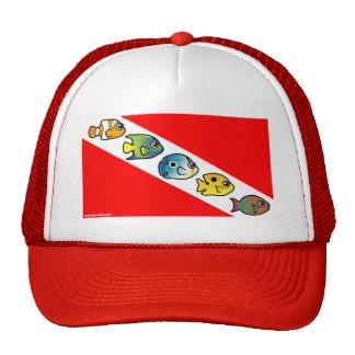 Cute Scubadorable Dive Flag Hats