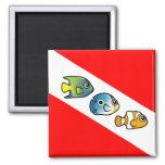 Cute Scubadorable Dive Flag Magnets