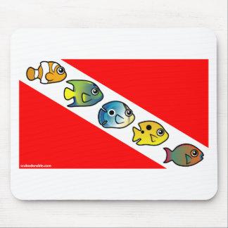 Cute Scubadorable Dive Flag Mouse Pad